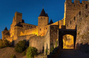 L'embrasement de la cité de Carcassonne