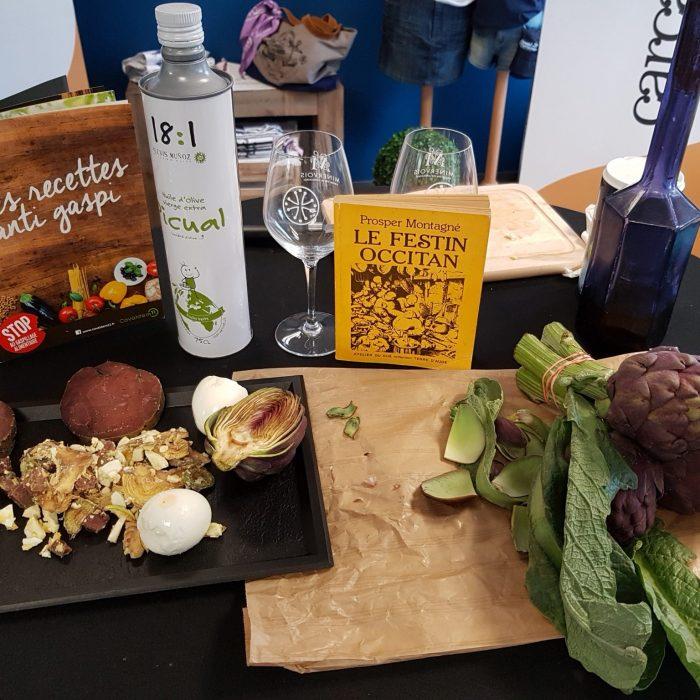Alphonse Caravaca Président des compagnons de Prosper Montagne - recette de la salade d'artichauts au foie sec