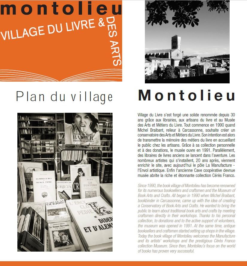 Plan de Montolieu village du livre