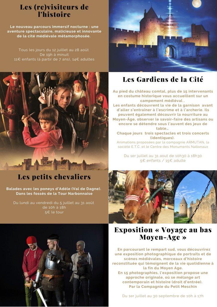 chateau-comtal-cite-carcassonne-animations-medievales-été-2021